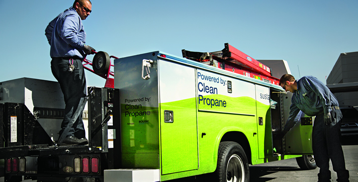 Propane powers energy efficinet, low carbon emission vehicles